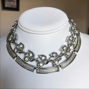 Two Vintage Silver Choker Necklaces